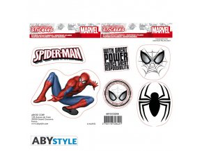 marvel stickers 16x11cm 2 sheets spider man x5