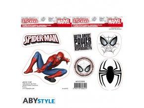 marvel stickers 16x11cm 2 sheets spider man x5