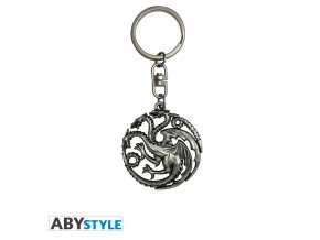 game of thrones keychain 3d targaryen x2