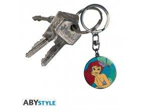 disney keychain tlm ariel detail x4