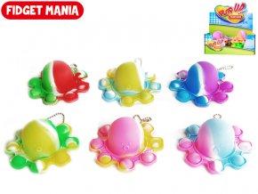 Fidget Toys Plop up! přívěsek na klíče chobotnice 9cm