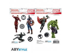 marvel stickers 16x11cm 2 sheets avengers x5