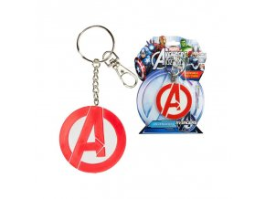 marvel keychain bendable avengers logo 6cm