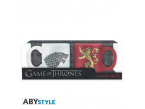 game of thrones set 2 espresso mugs 110 ml stark lannister x2
