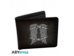 the walking dead wallet daryl wings vinyl