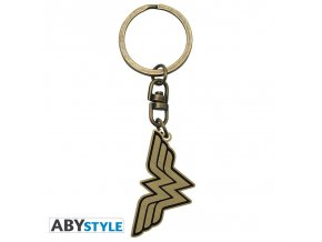 dc comics keychain wonder woman logo x4