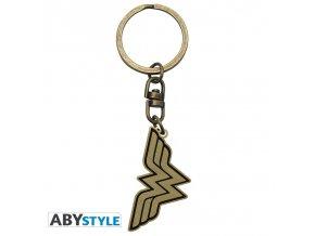 dc comics keychain wonder woman logo x4