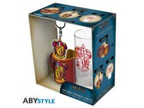 harry potter pck glass 29cl keyring mini mug gryffindor (4)