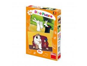 Puzzle Večerníčky - 2x 48 dílků - maxi pes fík