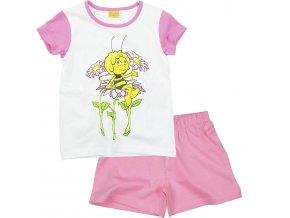 Biene Maja Mädchen Kurz Schlafanzug rosa weiß Gr 98 104