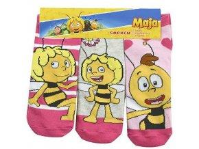 Biene Maja Mädchen Sneaker Socken 3er Pack