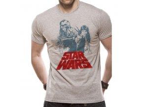 Tričko Star Wars - Solo Chewie Duet Retro