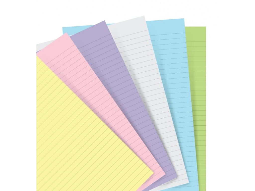 organiser refill a5 pastel ruled paper 1 2