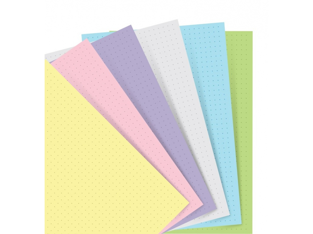 organiser refill a5 pastel dotted paper 2