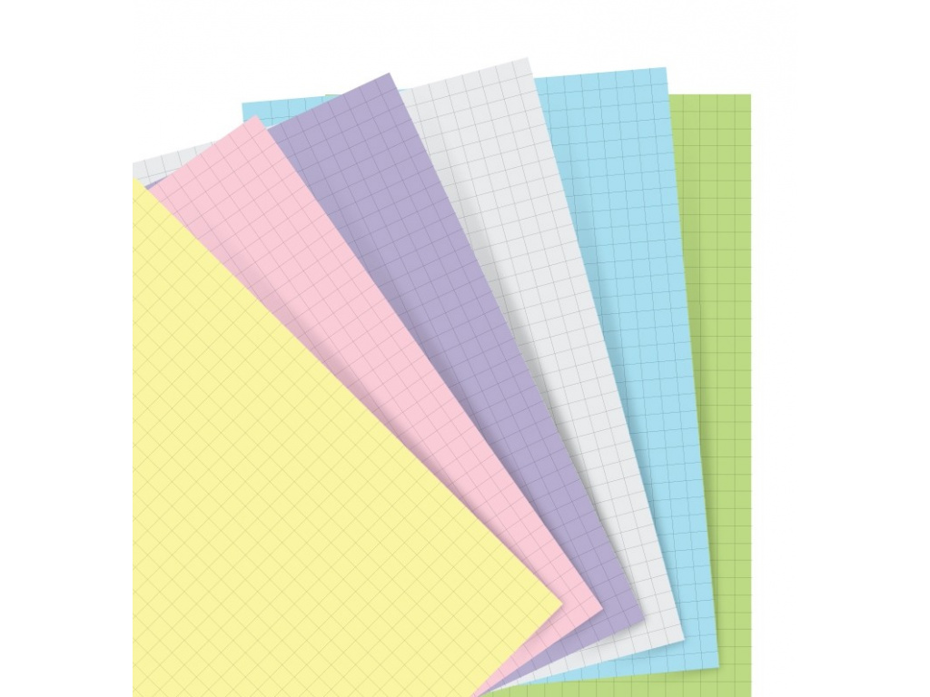 organiser refill a5 pastel squared paper 2
