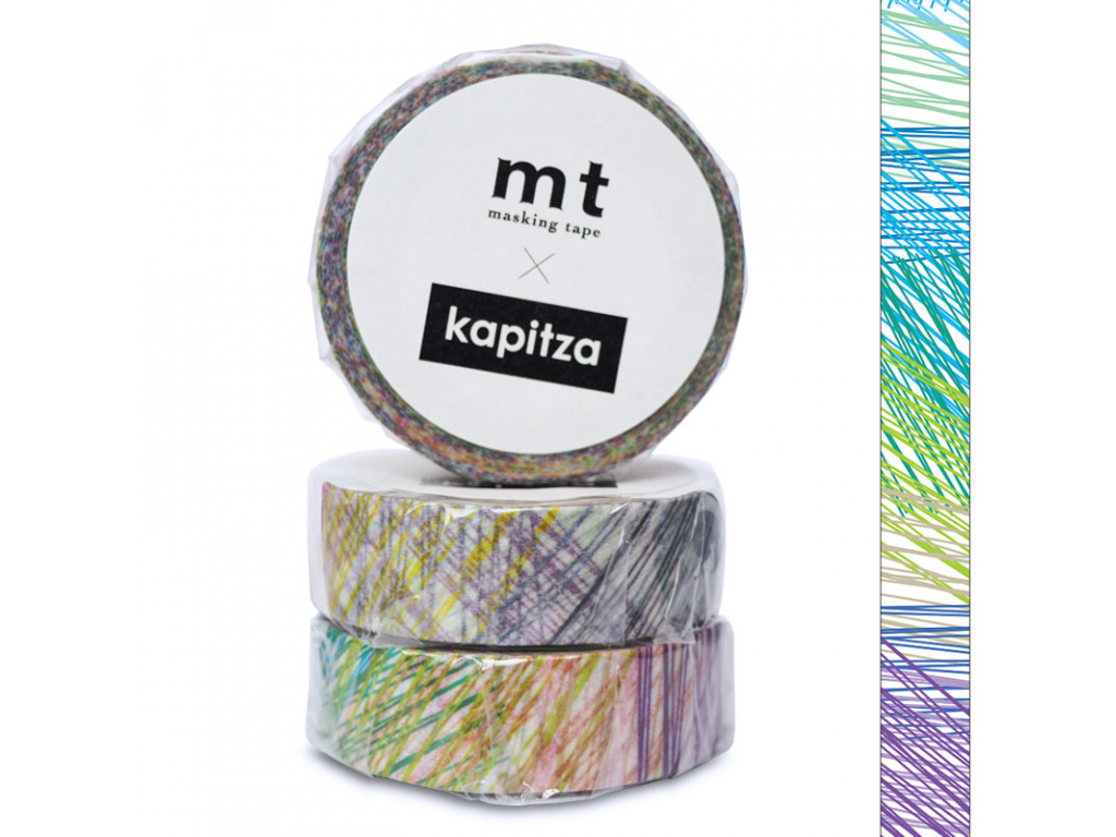 Washi páska Kapitza Scribble | 15mm x 10m