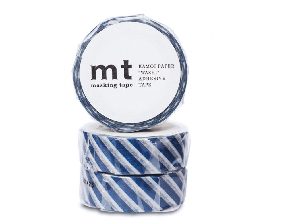 Washi páska Stripe Marine Blue | 15mm x 10m