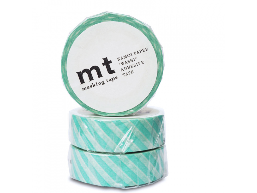 Washi páska Stripe Mint | 15mm x 10m