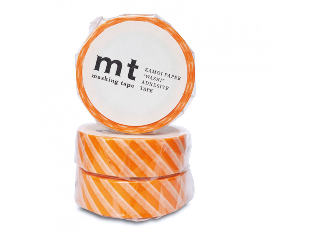Washi páska Stripe Orange | 15mm x 10m