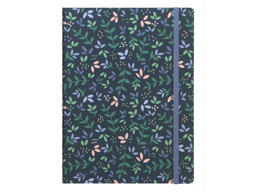 Filofax Garden Collection A5 Notebook in Dusk SKU 115114 Product Front image