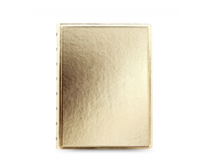 115036 filofax notebooks saffiano gold a5 large 1