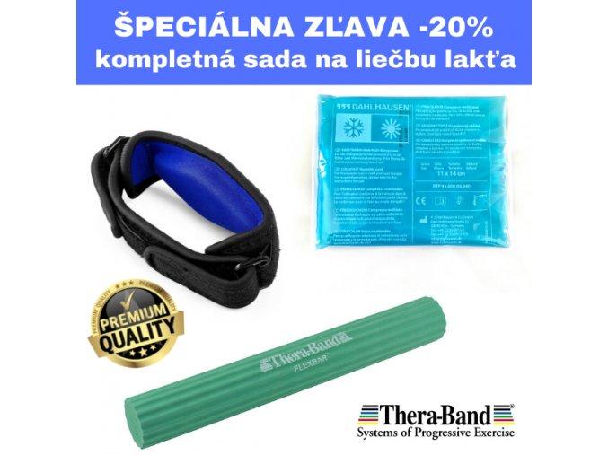 Flexbar zelený, ortéza na lakeť, gélové vrecko
