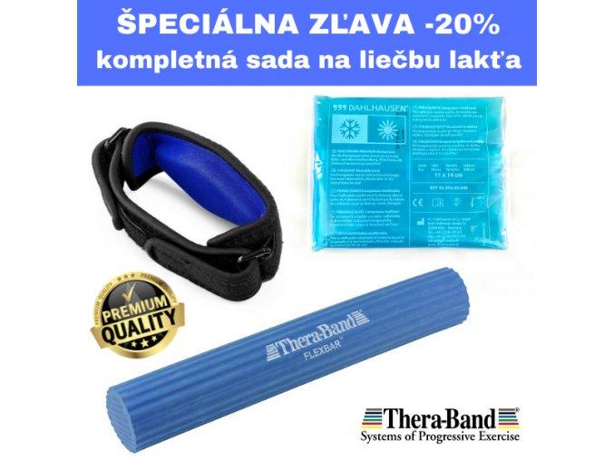 Flexbar modrý, ortéza na lakeť, gélové vrecko