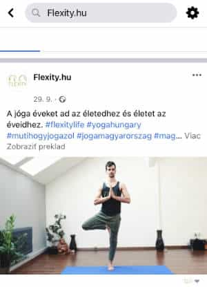 facebook flexity yoga web
