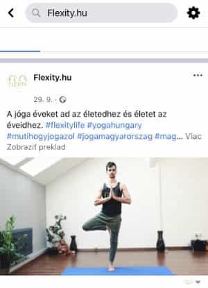 facebook flexity yoga web