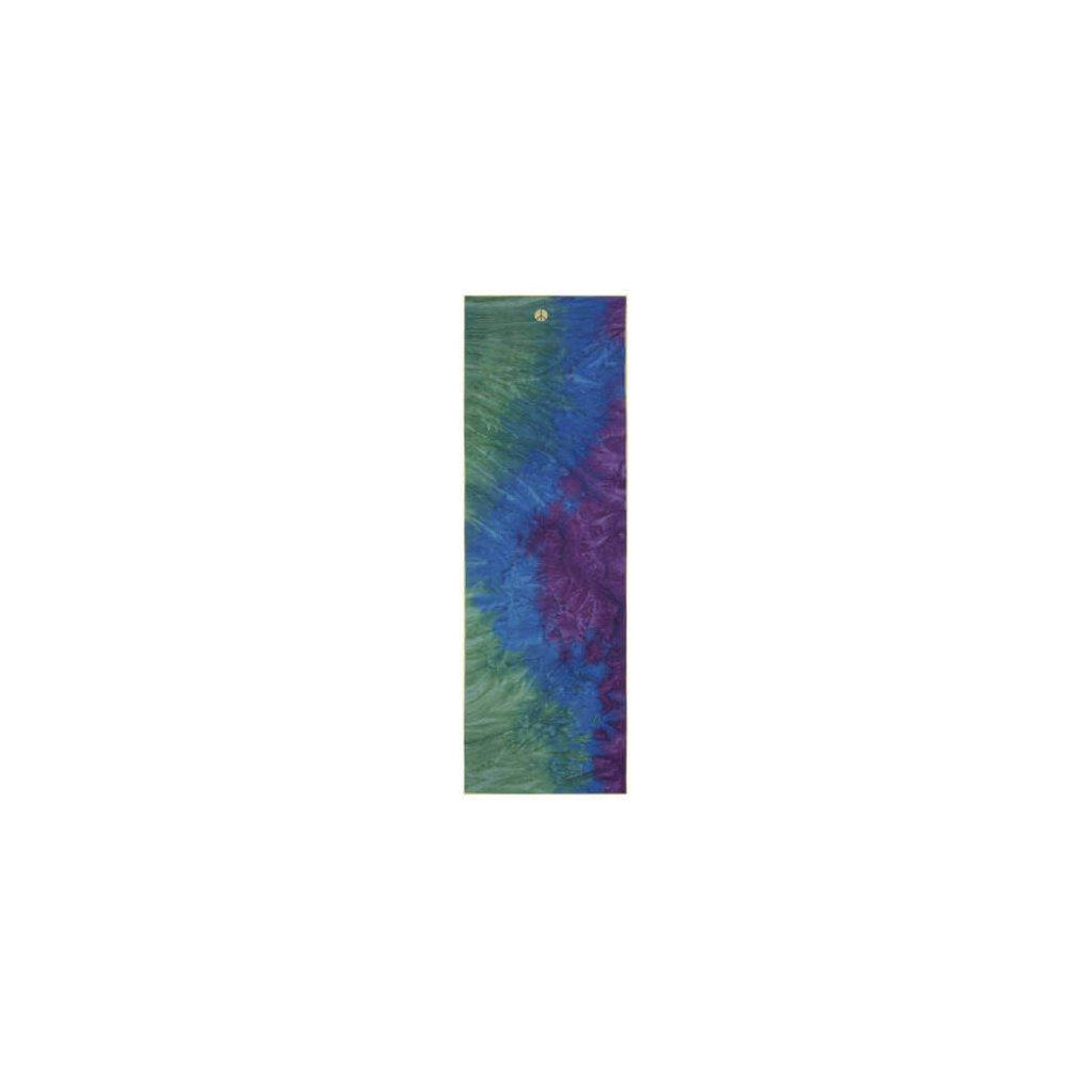 MANDUKA yogitoes® joga uterák - Peacock (zelená) (Dlžka uteráku 203 cm)
