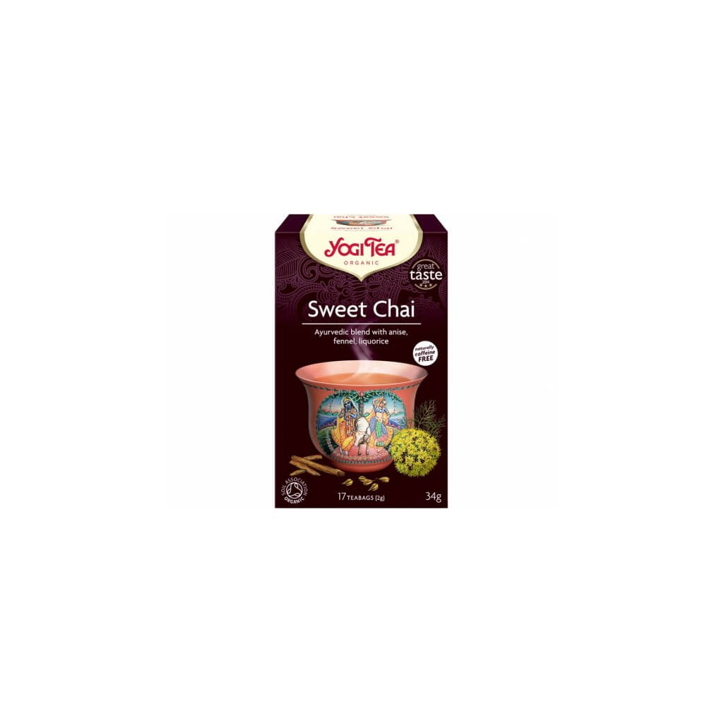 3380 1 yogi tea bio sweet chai sladky chai 17 x 2 g
