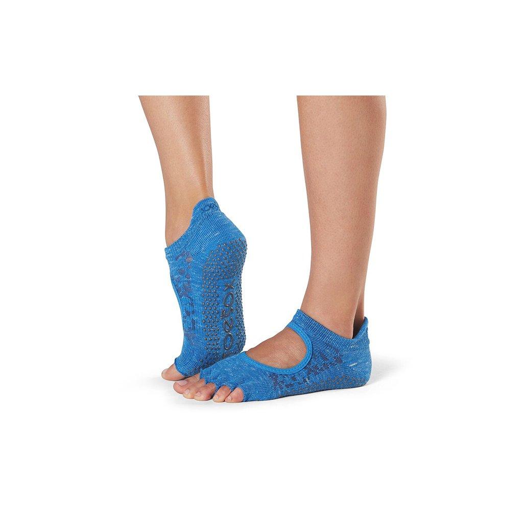 Toesox Halftoe Bellarina Grip csúszásgátló zokni Lapis (Veľkosť oblečenia M 39-42.5)