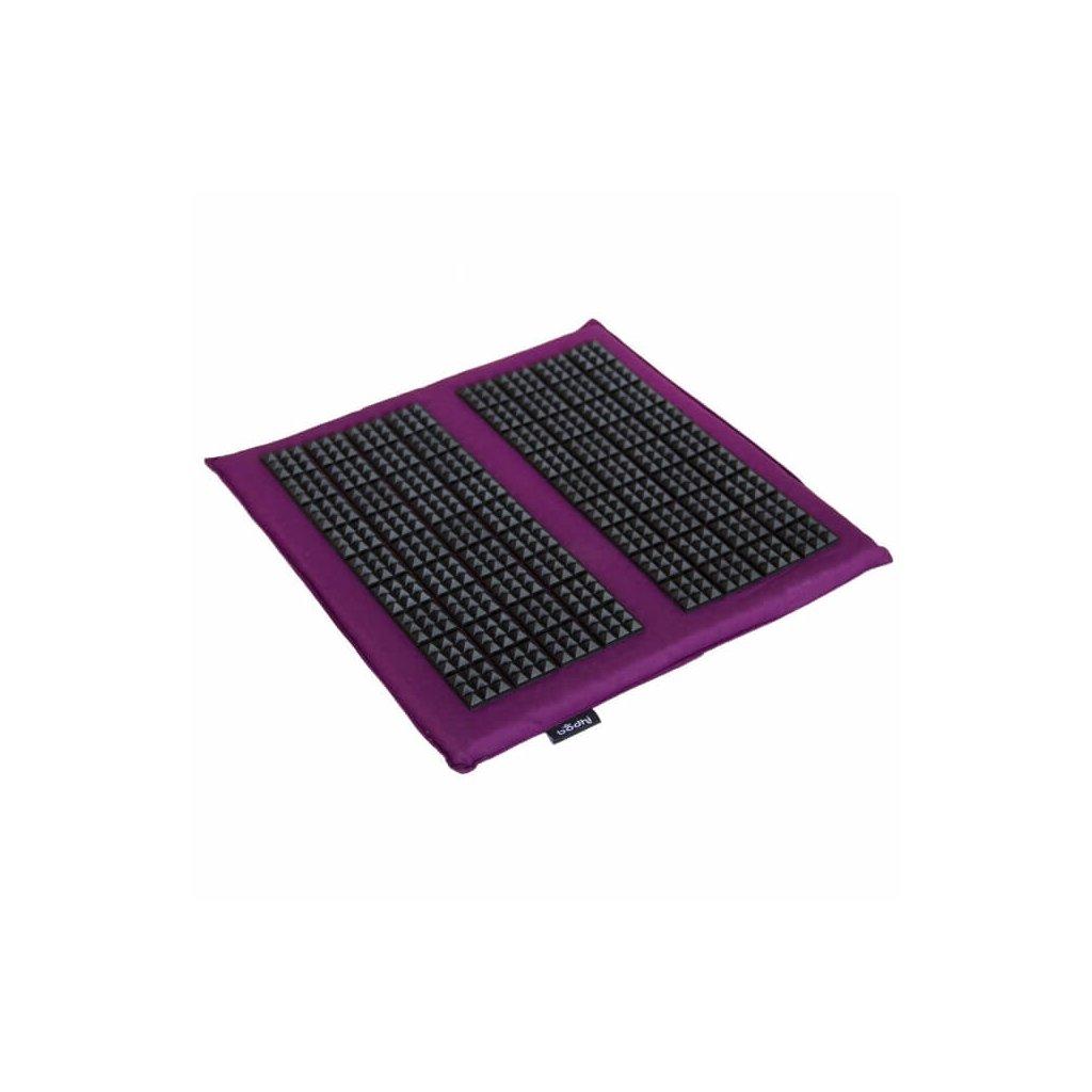 533a shiatsu vital akupressur fussmatte 35 x 35 cm aubergine