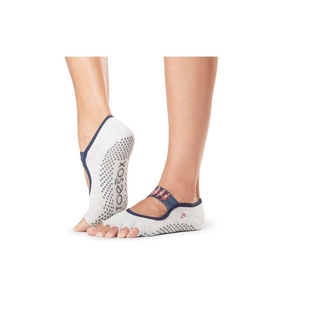 Toesox Halftoe Mia Grip csúszásgátló zokni Yonder (Veľkosť oblečenia M 39-42.5)