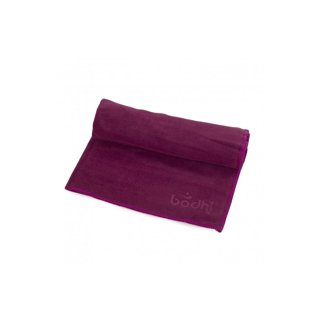 Bodhi jóga törölköző kézre No Sweat 68 x 40 cm (padlizsán)