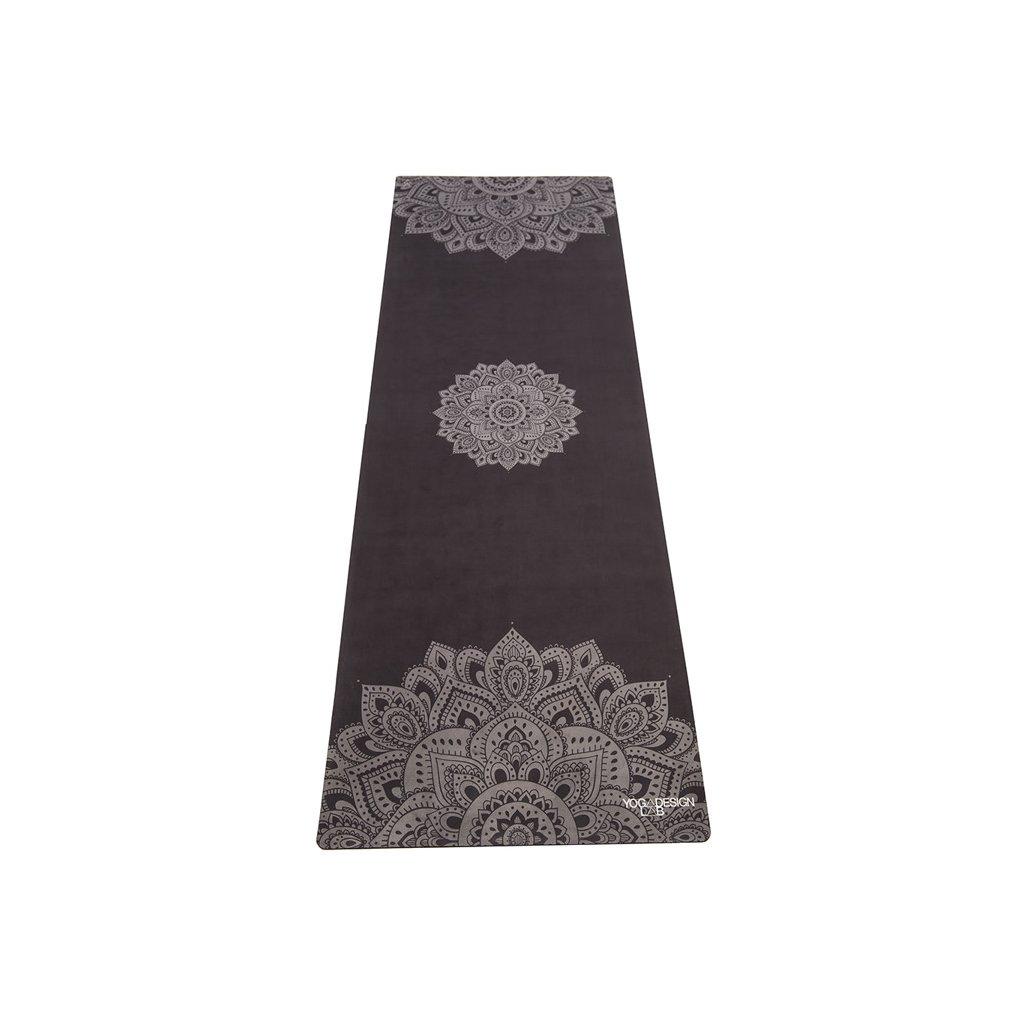 Yoga Design Lab Combo Mat Mandala fekete dizájn jóga szőnyeg hordszíjjal 178 x 61 cm x 3,5 mm