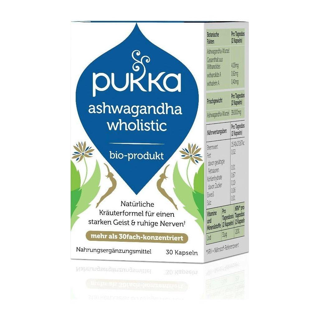 ashwagandha wholistic pukka kapsuly 30 ks indicky zensen