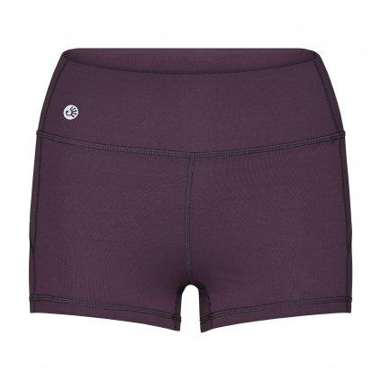 ns011as shorty niyama essentials wmn gym shortie dark purple front