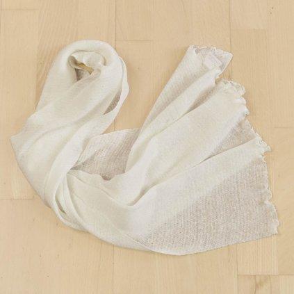 satnam chiara lanovy sal 164 x 44 cm kremovo biely
