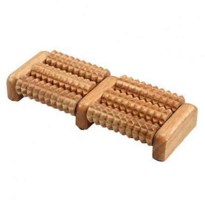 4136 1 bodhi masazny dreveny valcek na nohy 32cm