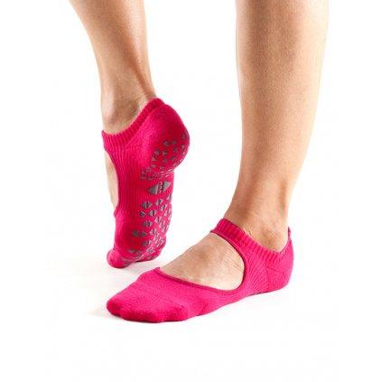 Tavi Noir Grip Socks Chey Magenta protišmykové ponožky otvorené (Veľkosť oblečenia M 39-42.5)