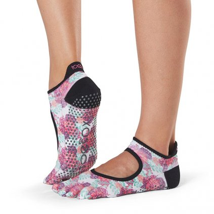 Toesox Fulltoe Bellarina Grip csúszásgátló zokni Posy (Veľkosť oblečenia M 39-42.5)
