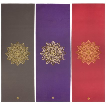 p680x yoga yogamatte rishikesh mit goldenem mandala sammelbild