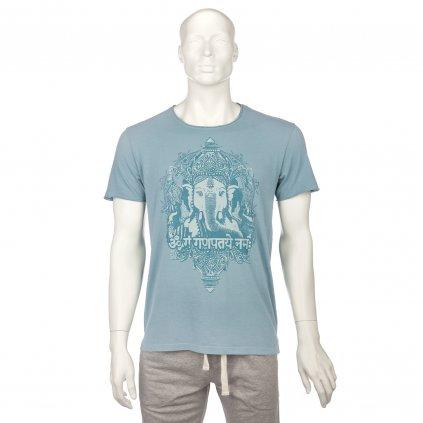 mtgbx yoga bodhi mens t shirt ganesha vintage blue front(1)