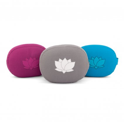 951x meditation meditationskissen oval eco mit lotus stickerei stehend