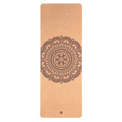 632cm2 yoga meditation pilates yogamatte kork mandala bicolor above
