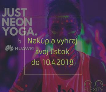 Vyhrajte 2 vstupy na Just Neon Yoga