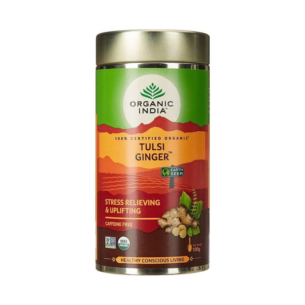 Tulsi Ginger sypaný čaj Organic India