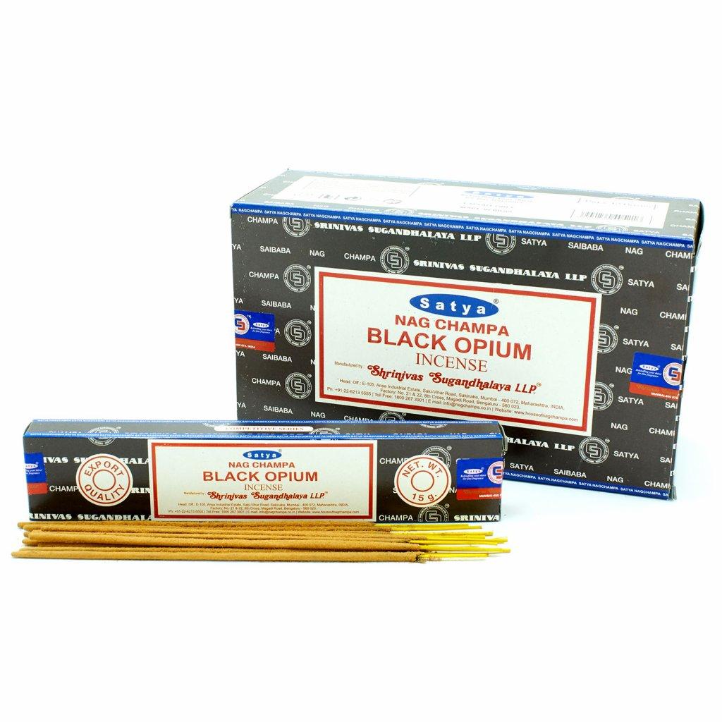 AWG Satya vonné tyčinky Black Opium čierne ópium 15 g