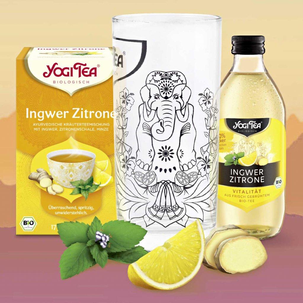 Yogi Tee Geschenkset Ingwer Zitrone 2